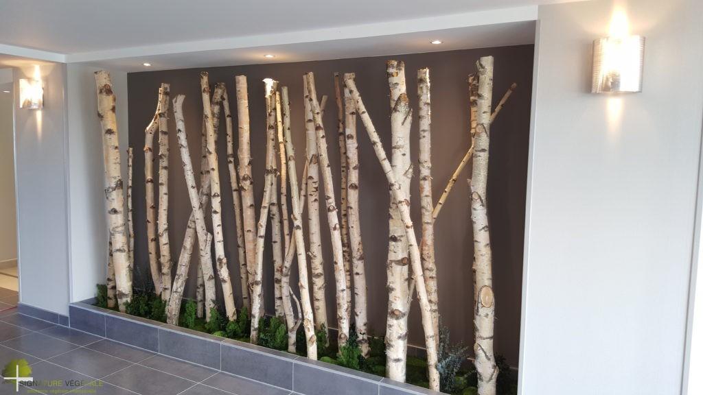 Troncs de bouleaux signature vegetale - Arbre deco interieur ...